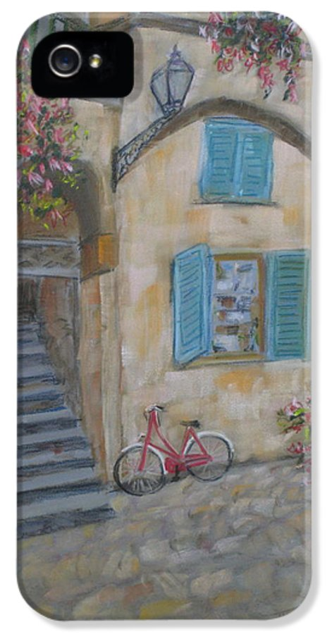 Architecture IPhone 5 Case featuring the painting Tuscan Delight by Mohamed Hirji