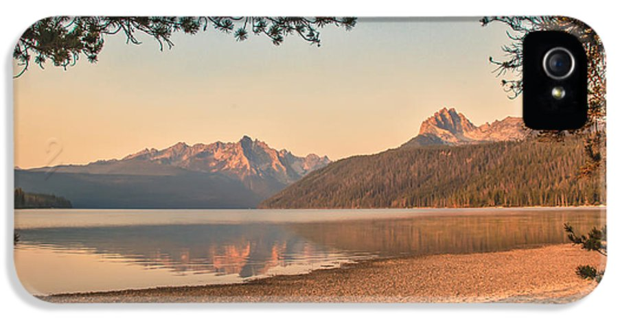 Rocky Mountains IPhone 5 Case featuring the photograph Twilight At Redfish Lake by Robert Bales