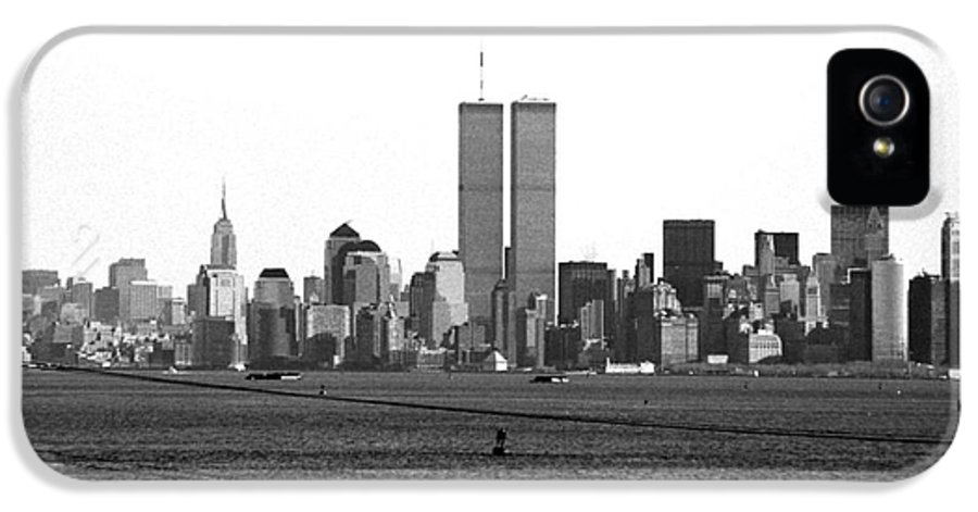 Twin Towers From Staten Island IPhone 5 Case featuring the photograph Twin Towers From Staten Island by John Rizzuto