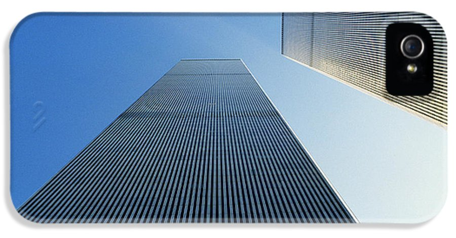 World Trade Center IPhone 5 Case featuring the photograph Twin Towers by Jon Neidert