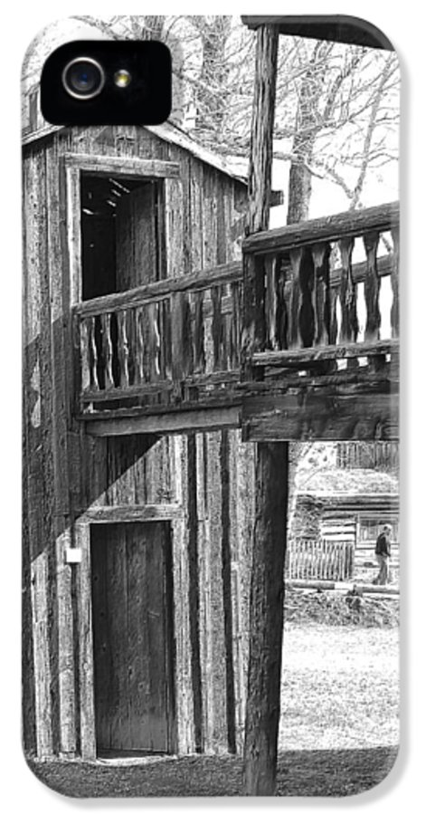 Outhouse IPhone 5 Case featuring the photograph Two-story Privy by Mark Eisenbeil