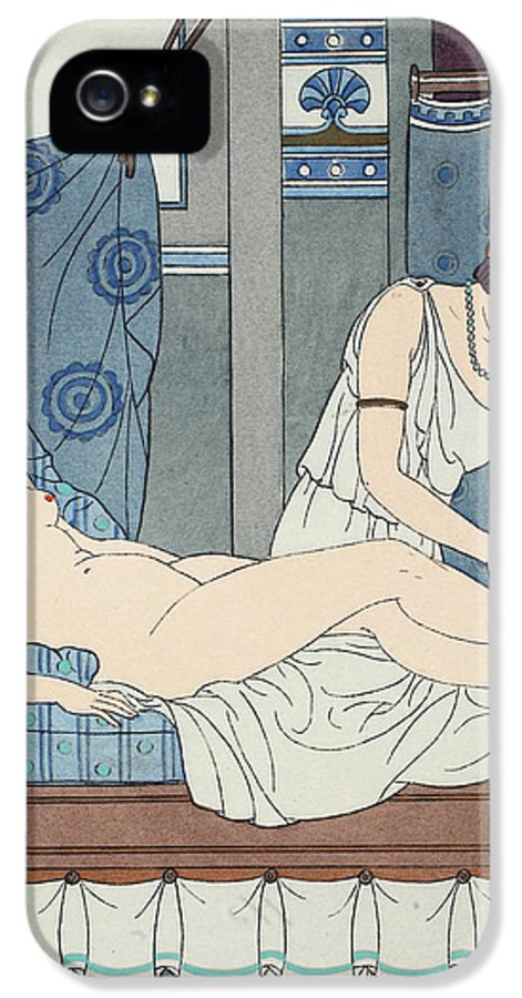Antiquity IPhone 5 Case featuring the painting Tying The Legs Together by Joseph Kuhn-Regnier
