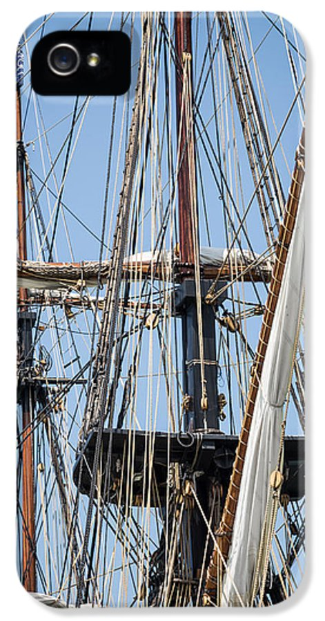 Tall Ship Rigging IPhone 5 Case featuring the photograph U. S. Brig Niagara Rigging by Dale Kincaid