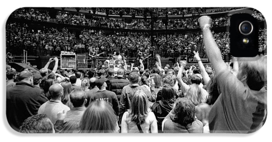 Bono IPhone 5 Case featuring the photograph U2-crowd-gp13 by Timothy Bischoff