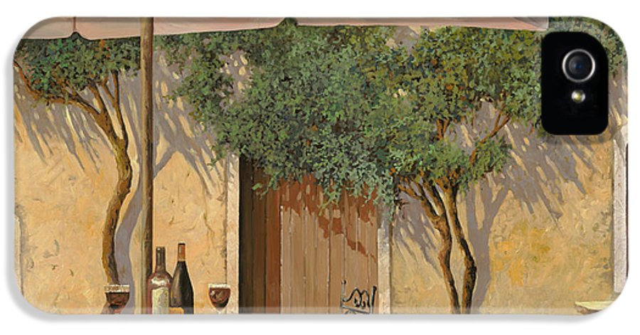 Courtyard IPhone 5 Case featuring the painting Un Ombra In Cortile by Guido Borelli