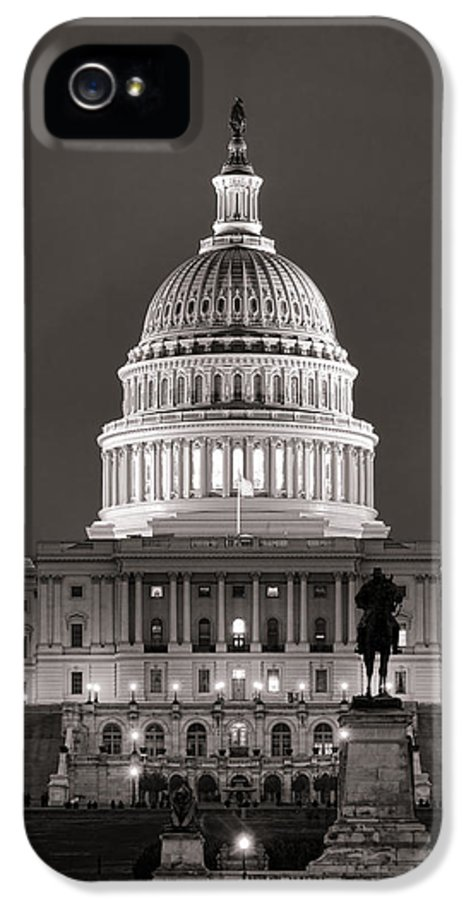 Washington IPhone 5 Case featuring the photograph United States Capitol At Night by Olivier Le Queinec