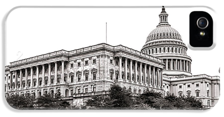 Washington IPhone 5 Case featuring the photograph United States Capitol Senate Wing by Olivier Le Queinec