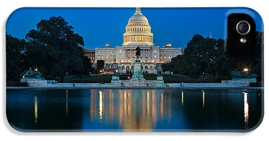 United IPhone 5 Case featuring the photograph United States Capitol by Steve Gadomski