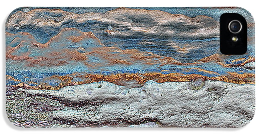 Seascape IPhone 5 / 5s Case featuring the mixed media Untamed Sea 1 by Carol Cavalaris