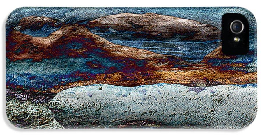 Seascape IPhone 5 Case featuring the mixed media Untamed Sea 2 by Carol Cavalaris