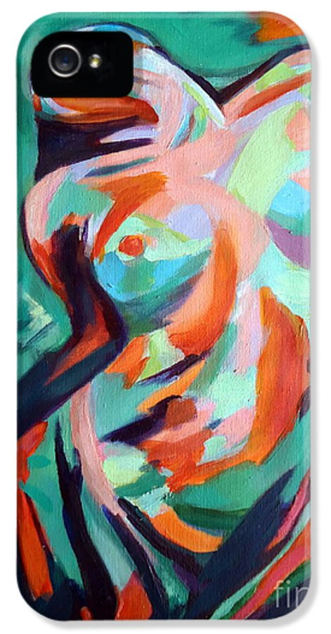 Nude Figures IPhone 5 Case featuring the painting Uplift by Helena Wierzbicki