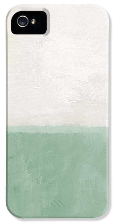 Abstract Landscape IPhone 5 Case featuring the painting Upon Our Sighs by Linda Woods