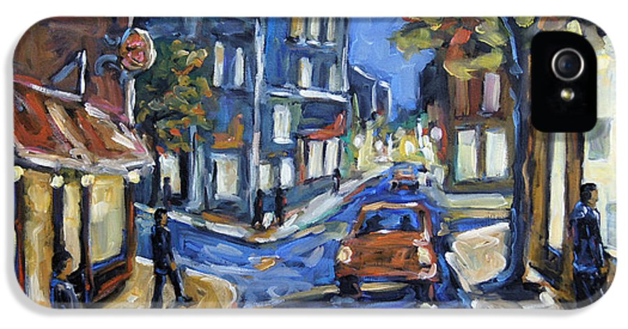 Canadian Rural Scene Created By Richard T Pranke IPhone 5 Case featuring the painting Urban Avenue By Prankearts by Richard T Pranke