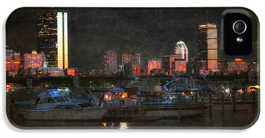Boston IPhone 5 Case featuring the photograph Urban Boston Skyline by Joann Vitali