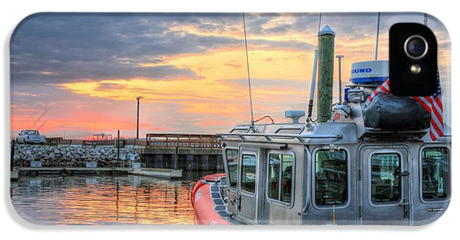 Joint Base Anacostia Bolling IPhone 5 Case featuring the photograph Us Coast Guard Defender Class Boat by JC Findley