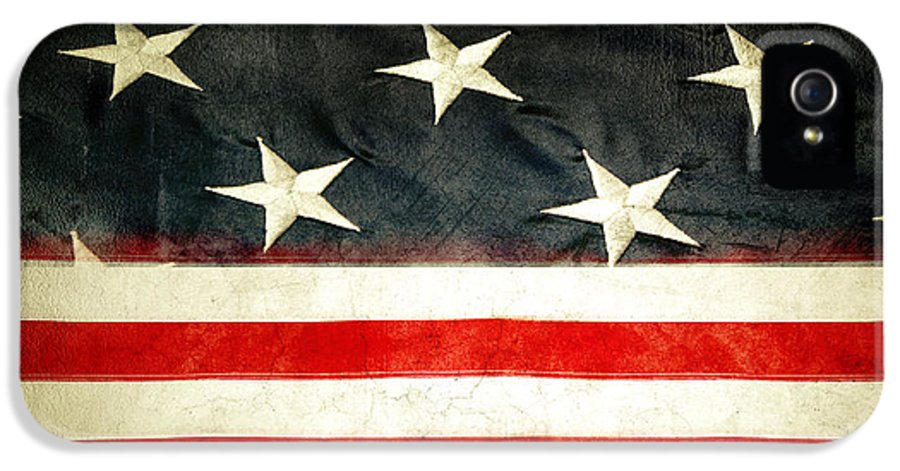 Flag IPhone 5 Case featuring the photograph Usa Stars And Stripes by Les Cunliffe