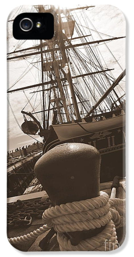 Boston Ma IPhone 5 Case featuring the photograph Uss Constitution by Catherine Reusch Daley