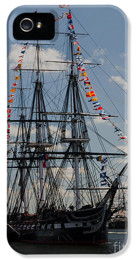 Boat IPhone 5 Case featuring the photograph Uss Constitution by Mike Ste Marie