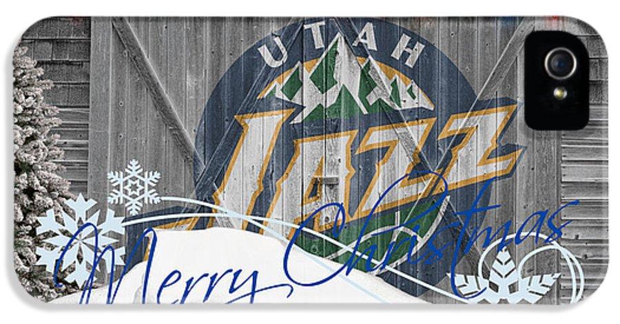 Jazz IPhone 5 Case featuring the photograph Utah Jazz by Joe Hamilton