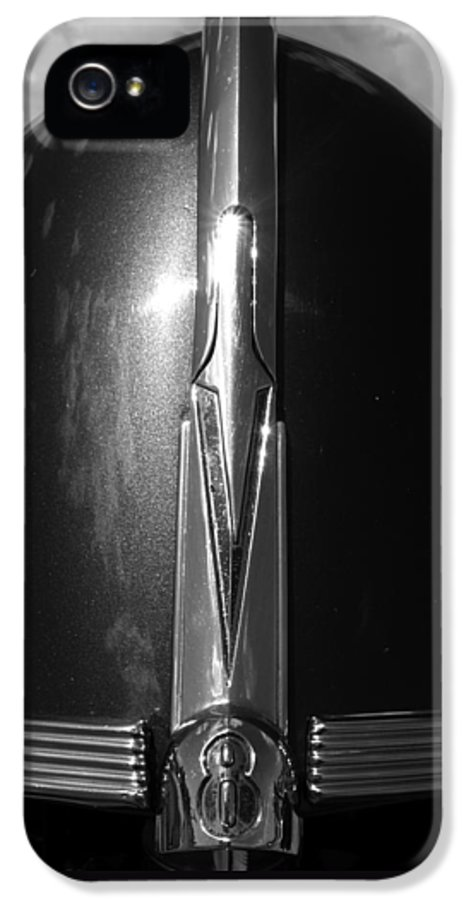 Old Cars IPhone 5 Case featuring the photograph V8 by Bill Gallagher
