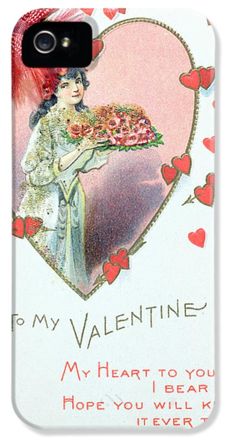 Love IPhone 5 Case featuring the painting Valentine Card by English School