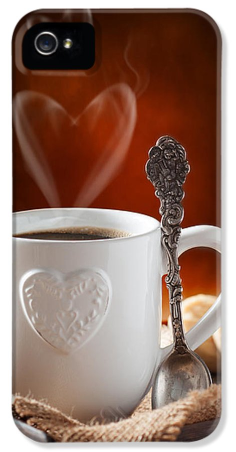 Coffee IPhone 5 Case featuring the photograph Valentine's Day Coffee by Amanda Elwell