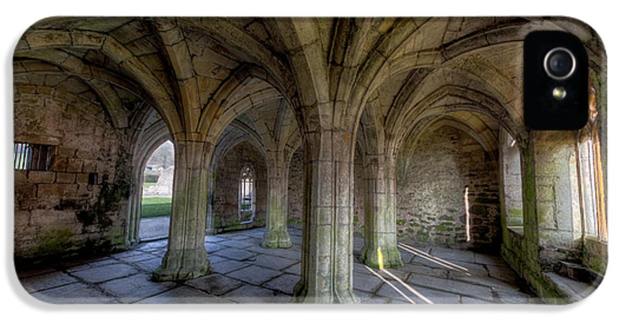 Abbey IPhone 5 Case featuring the photograph Valle Crucis Chapter House by Adrian Evans