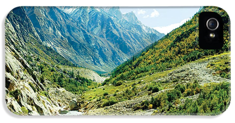 Valley IPhone 5 Case featuring the photograph Valley Of River Ganga In Himalyas Mountain by Raimond Klavins