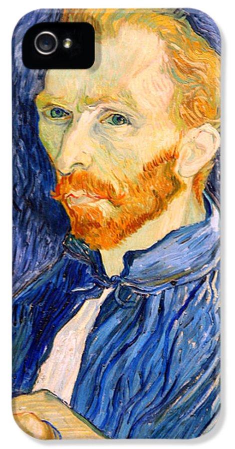 Vincent Van Gogh IPhone 5 Case featuring the photograph Van Gogh On Van Gogh by Cora Wandel