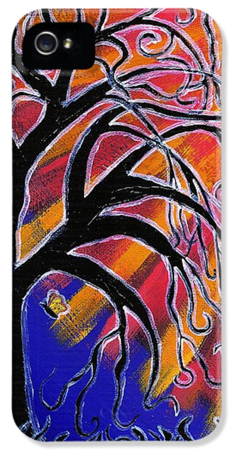 Tree IPhone 5 Case featuring the painting Vanessa by Vicki Maheu