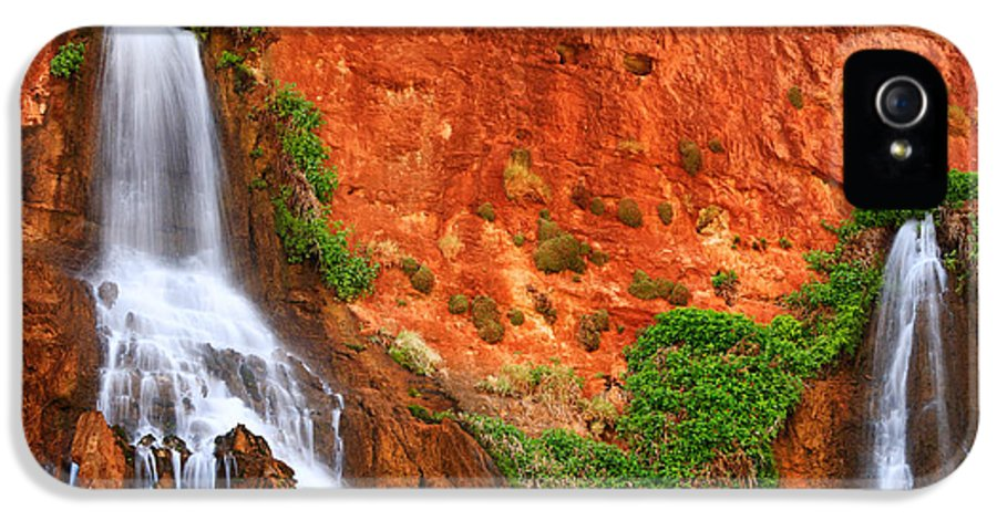 America IPhone 5 Case featuring the photograph Vaseys Paradise Twin Falls by Inge Johnsson