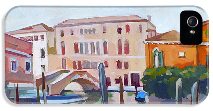 Venetian Cityscape IPhone 5 Case featuring the painting Venetian Cityscape by Filip Mihail