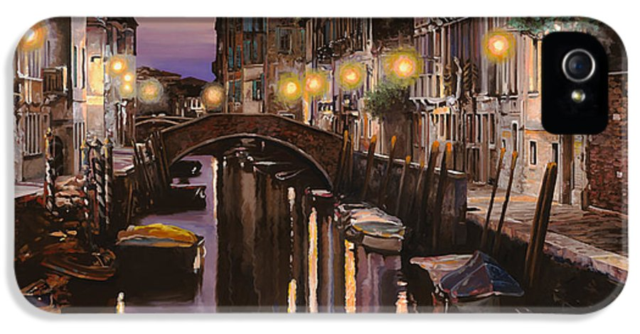 Venice IPhone 5 Case featuring the painting Venezia Al Crepuscolo by Guido Borelli