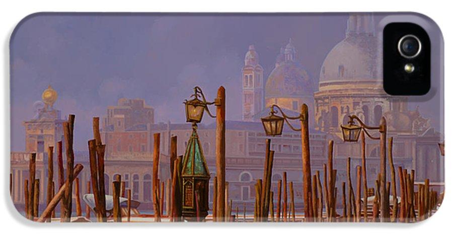 Venice IPhone 5 Case featuring the painting Venezia E La Nebbia by Guido Borelli
