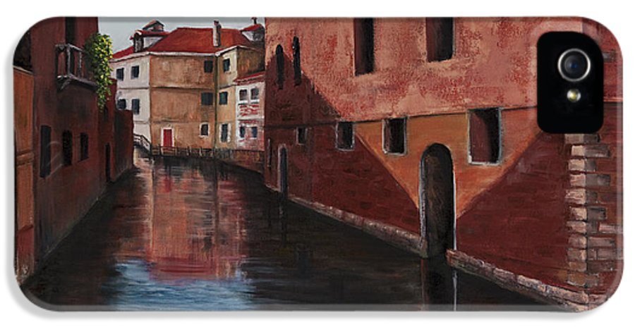 City Scape IPhone 5 Case featuring the painting Venice Canal by Darice Machel McGuire