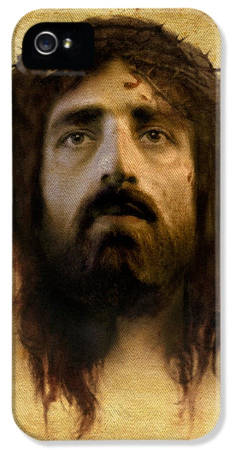 Jesus IPhone 5 Case featuring the digital art Veronica's Veil by Ray Downing