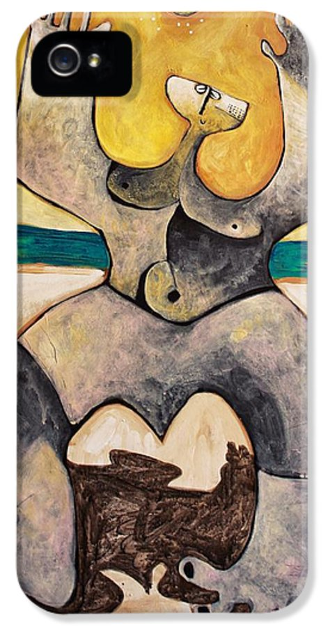 Figure IPhone 5 Case featuring the painting Via No. 4 by Mark M Mellon