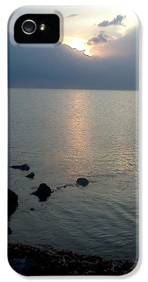 Jetty IPhone 5 Case featuring the photograph View From The Jetty 2 by K Simmons Luna