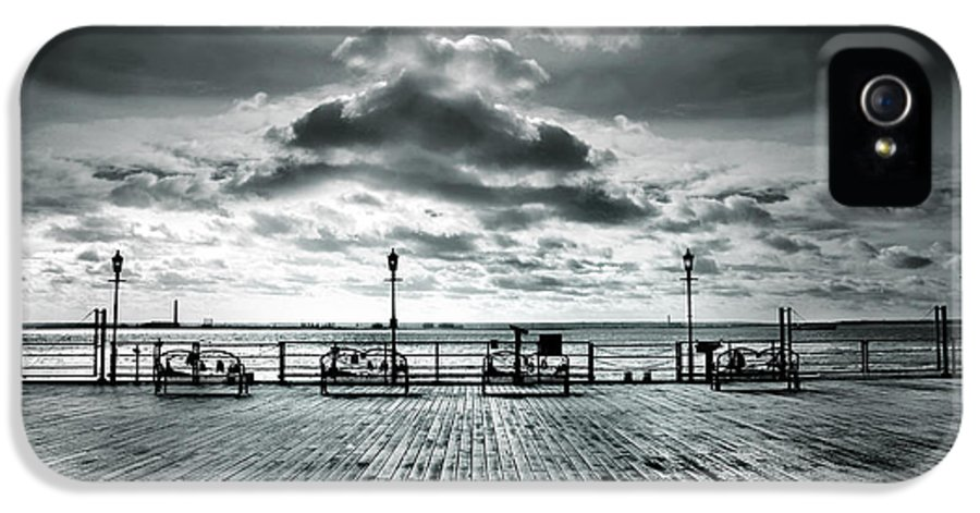 View IPhone 5 Case featuring the photograph View Point On The Pier by Mark Rogan