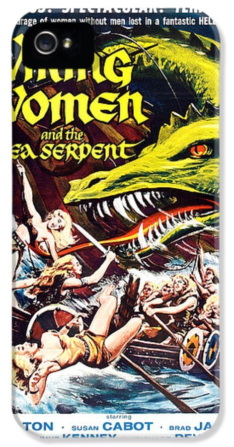 Movies IPhone 5 Case featuring the photograph Viking Women And The Sea Serpent Poster by Gianfranco Weiss