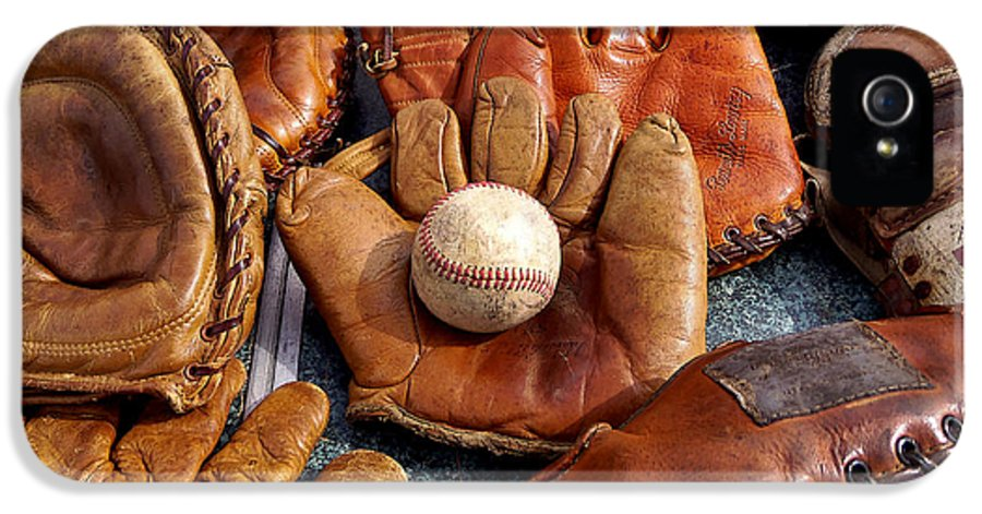 Baseball IPhone 5 Case featuring the photograph Vintage Baseball by Art Block Collections