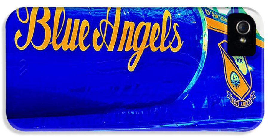 Blue Angels IPhone 5 Case featuring the photograph Vintage Blue Angel by Benjamin Yeager