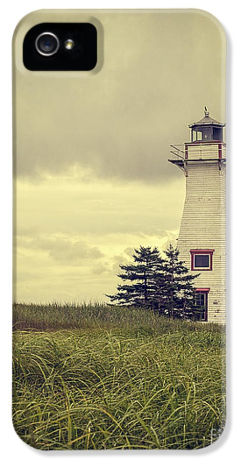 Prince IPhone 5 / 5s Case featuring the photograph Vintage Lighthouse Pei by Edward Fielding