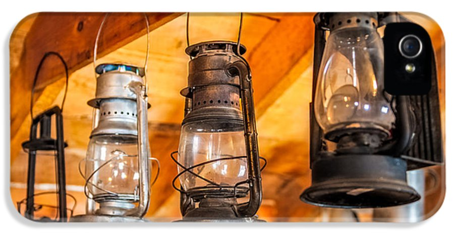 Kerosene IPhone 5 Case featuring the digital art Vintage Oil Lanterns by Paul Freidlund