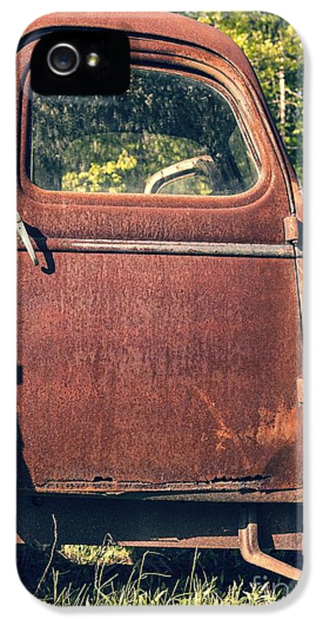 Quechee IPhone 5 Case featuring the photograph Vintage Old Rusty Truck by Edward Fielding