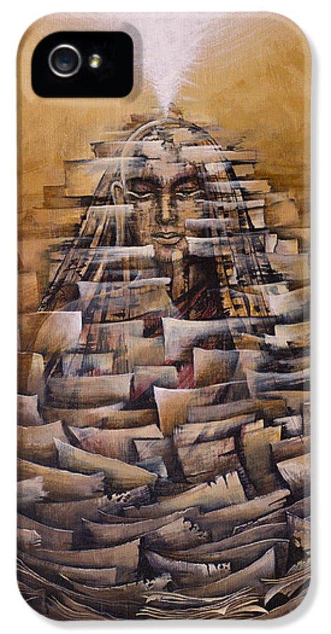 Vipassana. Meditation IPhone 5 Case featuring the painting Vipassana. Destruction Of Concepts by Vrindavan Das
