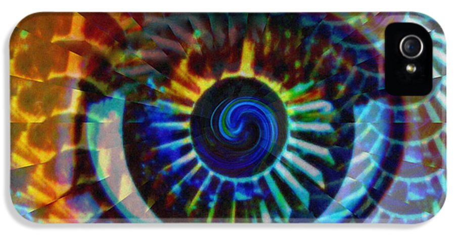Abstract IPhone 5 Case featuring the photograph Visionary by Gwyn Newcombe