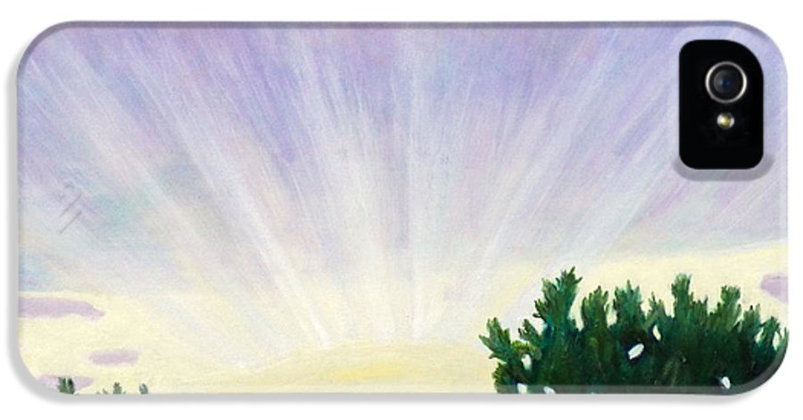 Skyscape IPhone 5 Case featuring the painting Visionary Sky by Brian Commerford