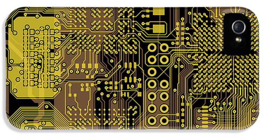 Circuit IPhone 5 / 5s Case featuring the digital art Vo96 Circuit 5 by Paul Vo