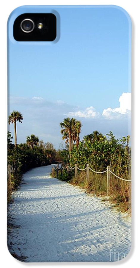 Beach IPhone 5 Case featuring the photograph Walk Way To Beach by Kathleen Struckle